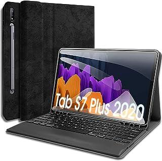 حافظة لوحة مفاتيح Wineecy Galaxy Tab S7 Plus مقاس 12.4 بوصة 2020 [-T970 - T975 - T976] مع حامل قلم S ، لوحة مفاتيح لاسلكية...