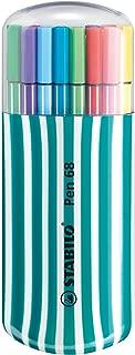 STABILO Pen 68 Fibre Tip Pens Desk Set Turquoise - Assorted Colours, Pack of 20