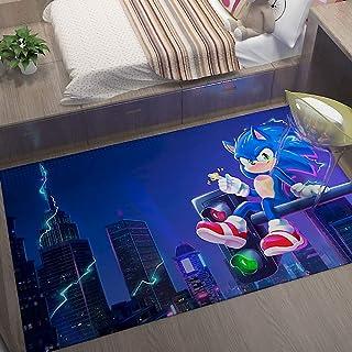 GOOCO Sonic The Hedgehog- Dessin animé caractère caractère caractère Pad Porte Durable antidérapant Tapis entrée Enfants d...