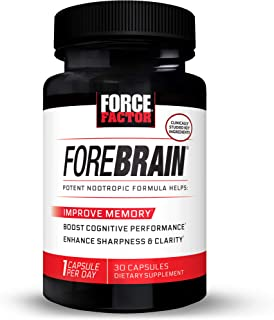 Forebrain Cognitive Performance Nootropic with COGNIGRAPE & Thinkamine – Improve Memory, Focus, Clarity, & Mental Energy, ...
