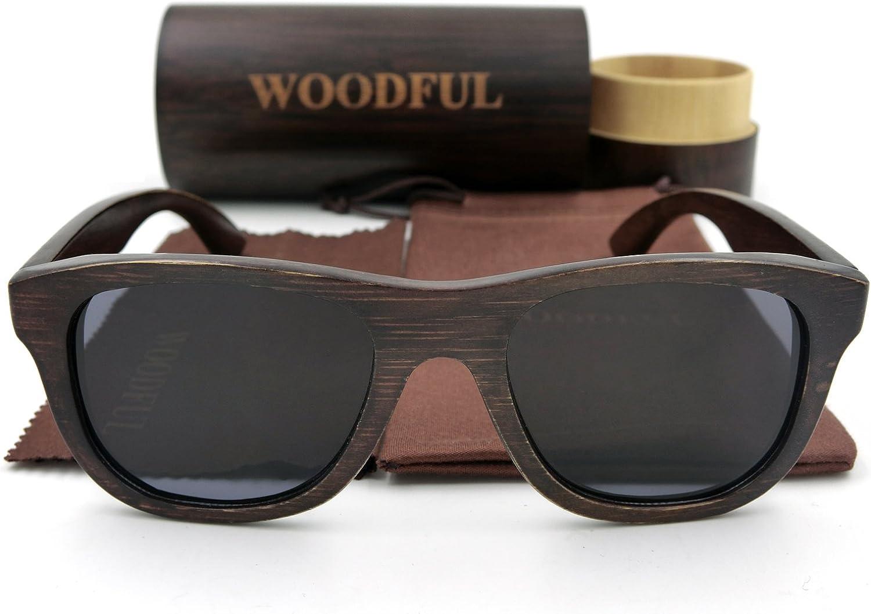 Bamboo Glasses Sunglasses Wood Eyewear Polarized Lens with Wooden Sunglasses Case