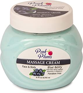 PINK PLUMS Glowing Blue Berry Massage Cream with Vitamin-E, 250 ml