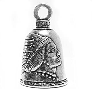 Guardian® Indian in Headdress Motorcycle Biker Luck Gremlin Riding Bell or Key Ring