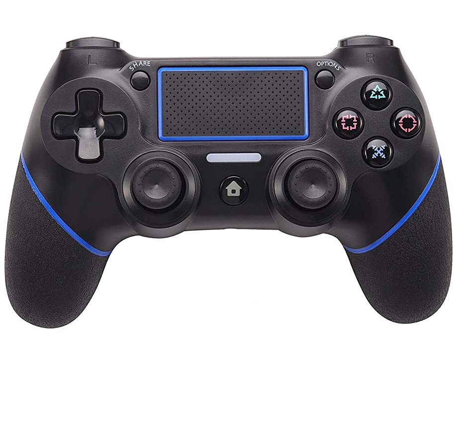 PS4 Controller,Lyyes PS4 Wireless Controller Dualshock Vibration Joystick Gamepad for Playstation 4 (Black&Blue)
