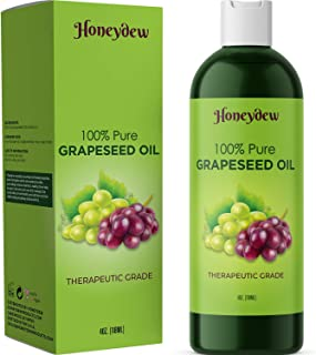 Sponsored Ad - Pure Grape Seed Oil Extract Cold Pressed Extraction Moisturizing Antioxidant Oil for Skin Hair and Nails Gr...