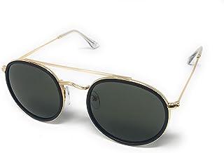 2637b235b7 Gafas de Sol Aviador de Marco Redondo para Hombre y Mujer Estilo Vintage  Clásico con protección