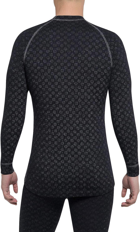 Merino Shirt Herren Optimaler Feuchtigkeitstransport 220 GSM Super Sanfte Schnelltrocknende Thermowave Xtreme Merino Unterw/äsche Herren Thermounterw/äsche Herren