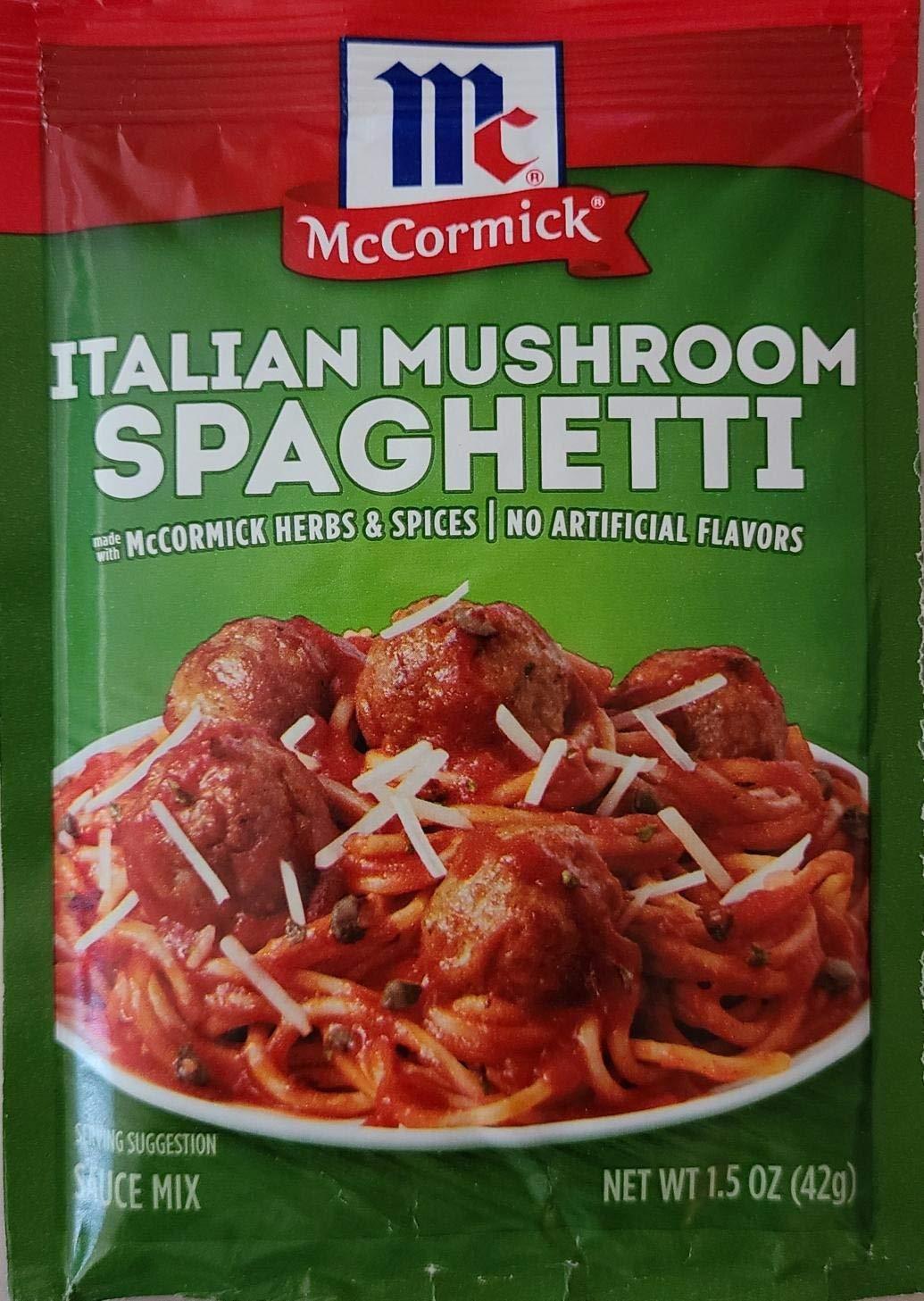 Cheap sale Mccormic Italian Mushroom Spaghetti Sauce 2021new shipping free shipping 1.5oz Pack of Mix 3