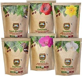 Java Planet - Coffee Beans, Organic Coffee Sampler Pack, Whole Bean Variety Pack, Arabica Gourmet Specialty Coffee, 1.32 P...