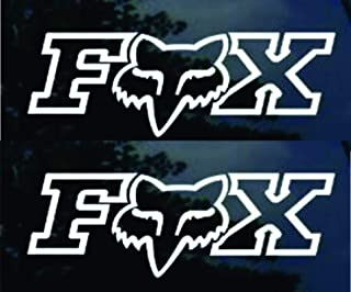 Fox Racing Decal X 2 Side Window Decal Sticker Wall Art
