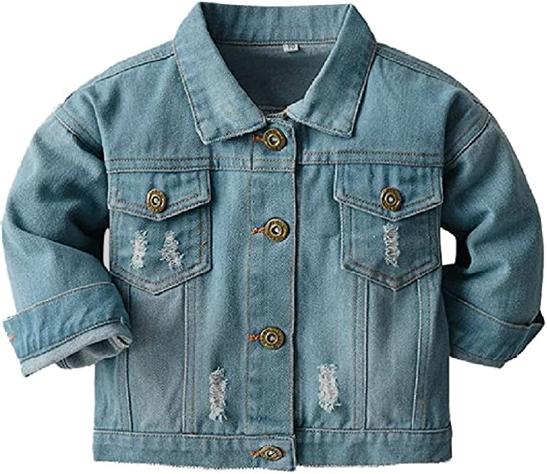 Wofupowga Same day shipping Kids Child Denim Jacket Limited time trial price Button Girl Coat for Down Boys
