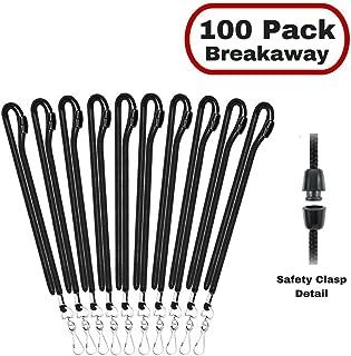 MIFFLIN Safety Lanyards in Bulk for ID Badge Holder (Black, 36 Inch, 100 Pack)