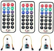 SUBALIGU 3pcs HX1838 VS1838 Infrared Wireless Remote Control IFR Sensor Module with Cable Compatible with Arduino Raspberr...