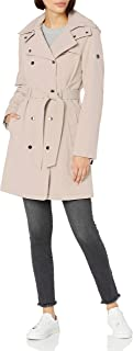 Calvin Klein Womens Double Breated Soft Shell Trench