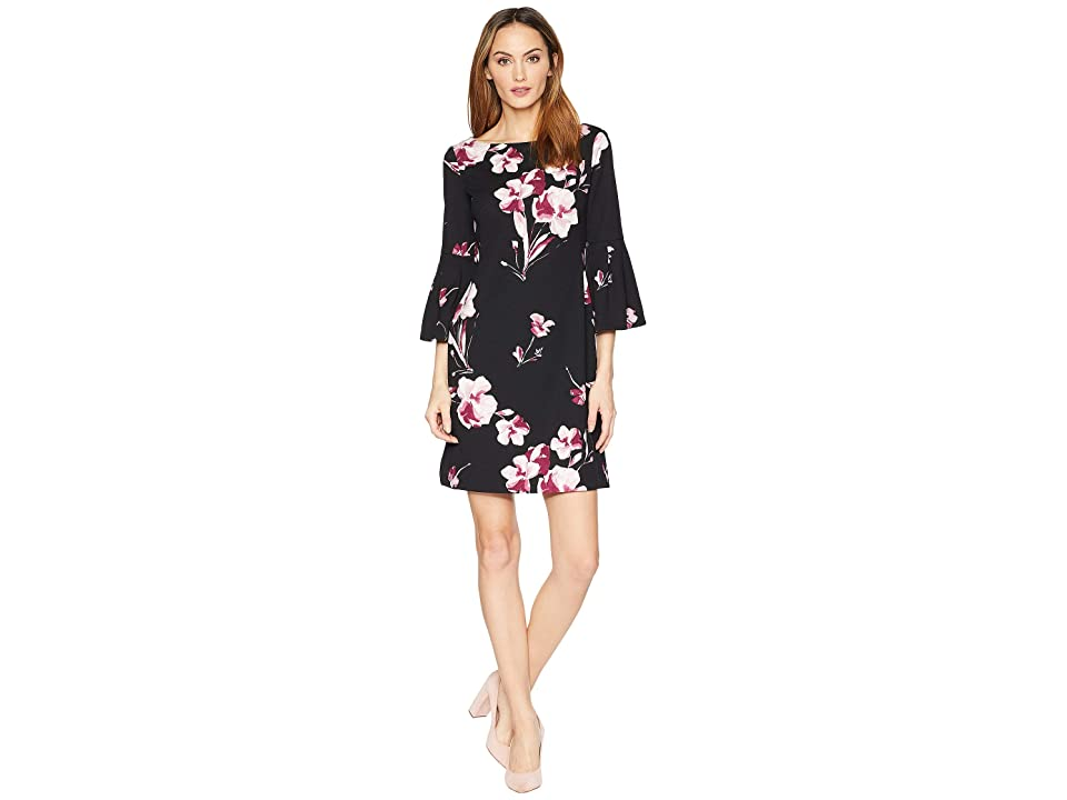 LAUREN Ralph Lauren B845-Grace Bay Floral Dress (Black/Pink/Multi) Women