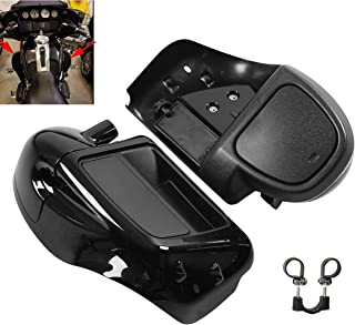XFMT Motorcycles Vivid Black Lower Vented Leg Fairing Compatible with Harley Touring Road King, Street Glide, org equipment on FLHTCU 2014-2020