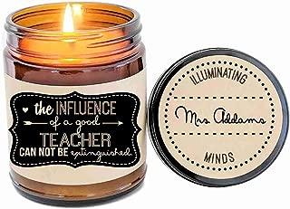 teacher appreciation candle