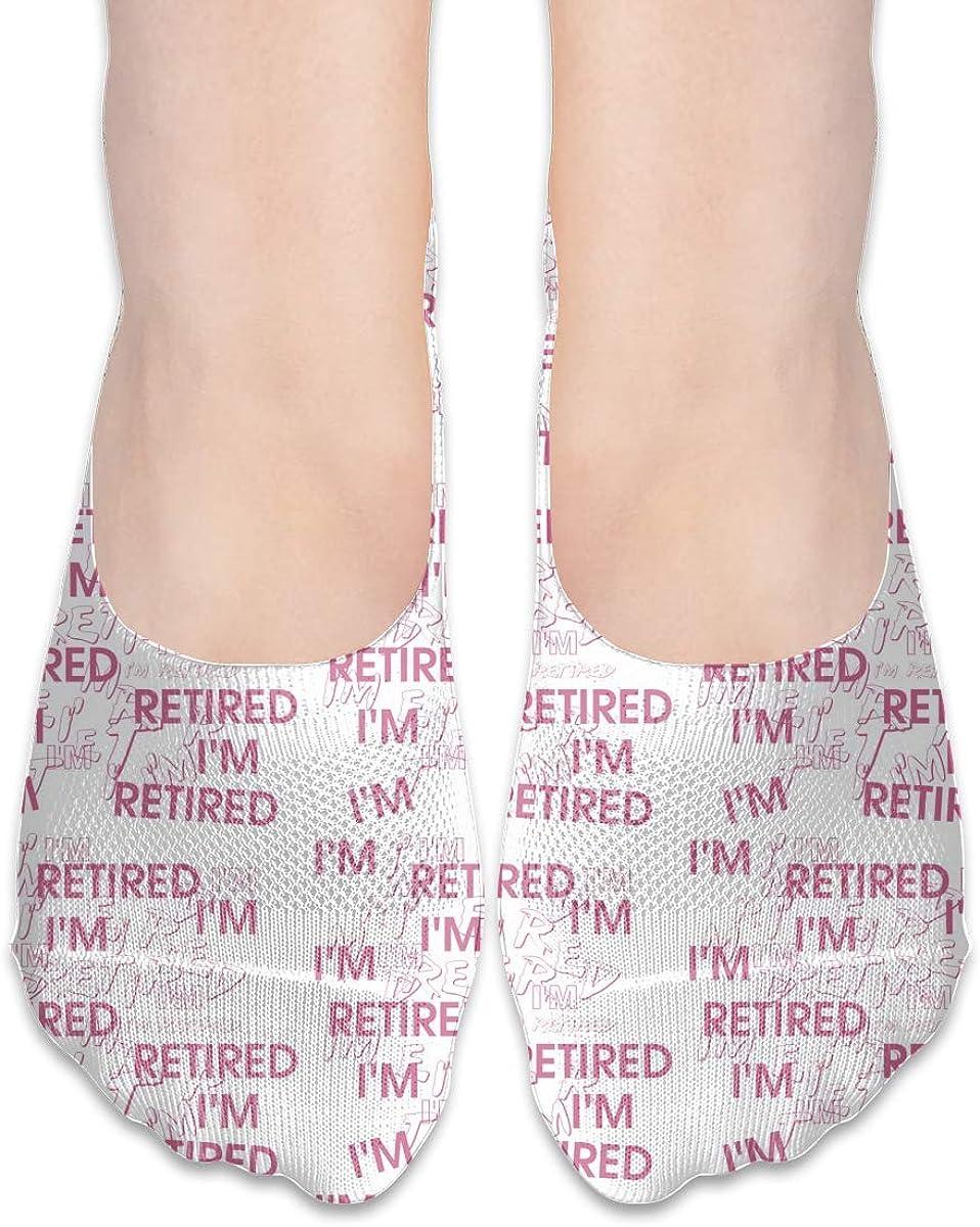 No Show Socks Women Men For I'M Retired Retirement Partie Flats Cotton Ultra Low Cut Liner Socks Non Slip