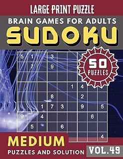 Sudoku Medium: sudoku puzzle books one per page   Sudoku puzzle for memory Sudoku Quest for Adults & Seniors and Sudoku Solver (Sudoku Brain Games Puzzles Book Large Print Vol.49)