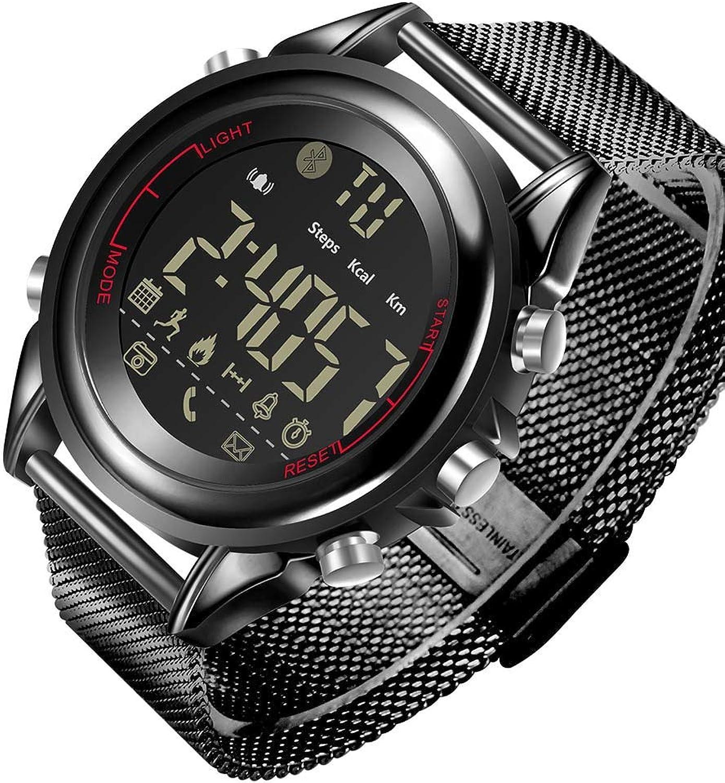 ZGYYDY Sport Smart Watch Blautooth SmartWatch Tragbares Gert Pedometer Stoppuhr Wasserdichte Digital LED Nicht Aufladen für Android IOS