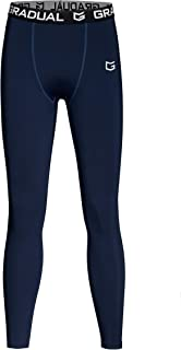 G Gradual Boys' Compression Leggings Youth Base Layer Pants Soccer Basketball Sports Tights for Boys