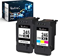 Valuetoner Compatible Ink Cartridge Replacement for Canon Pg-245Xl Cl-246Xl PG-243 CL-244 to use with Pixma MX492 MX490 MG2420 MG2520 MG2522 MG2920 MG2922 MG3022 MG3029 (2-Pack)