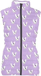 Rainbow Rules Bunny Bow Mens Puffer Vest Bodywarmer Gilet