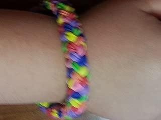 Rainbow Loom Double Braid Friendship Bracelet - Rainbow colors