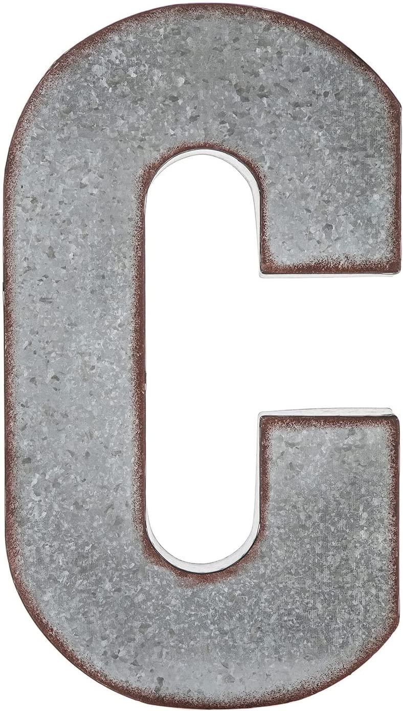 Hobby Lobby Home Décor X-Large Galvanized Rustic Industrial Metal Letter Wall Hanging Table Decor - C