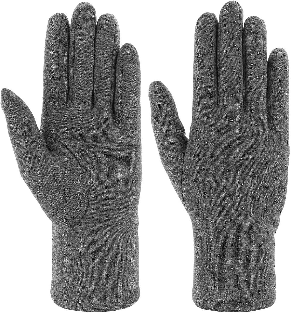 Lipodo Women´s Gloves with Rhinestones Women -