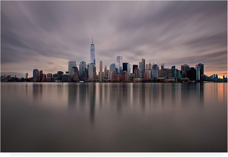 Trademark Fine Art MA01023C1219GG Dawn over Downtown Manhattan by David Ayash, 12x19