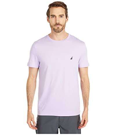 Nautica Short Sleeve Solid Crew Neck T-Shirt (Lavendula) Men
