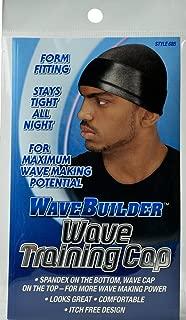 WaveBuilder Wave Training Cap | Form Fitting Spandex for Maximum Wave Making Potential, Black
