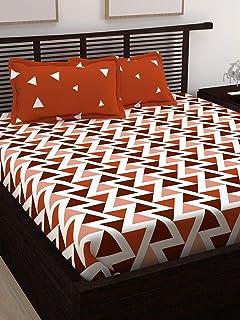 Story At Home Double Bedsheet Set, Multi-Colour, 225 Cm X 235 Cm, Cn2008, Set of 3