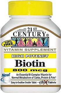 21st Century, Biotin, High Potency, 800 Mcg, 110 Tablets