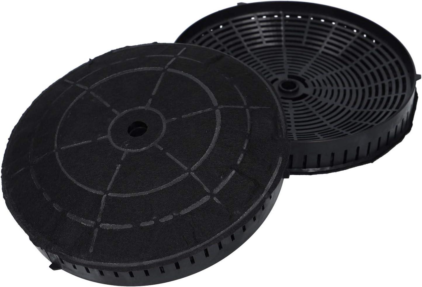 2 x filtro de carbón activado para Whirlpool 484000008824 Ikea Nyttig FIL 440 Elica CFC0038668 campana extractora