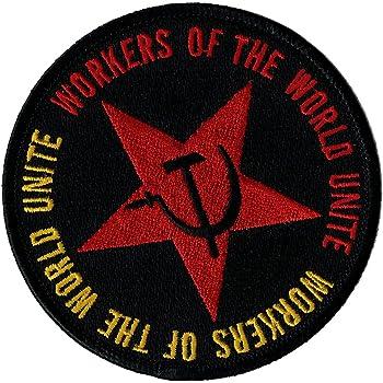 "Soviet Union PATCH 2.75/"" Iron-on Patches Soviets Emblem Sickle Hammer USSR"