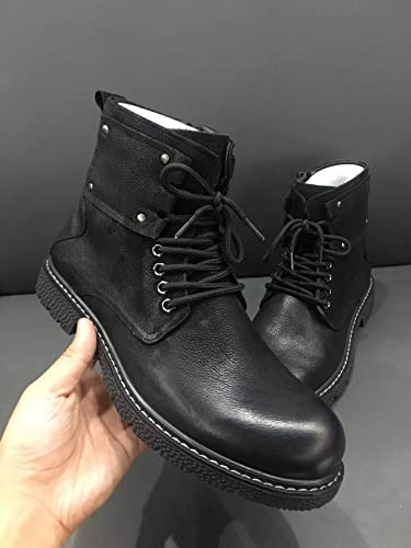 LOVDRAM botas De Hombre zapatos De Moda para Hombre zapatos Cuero para Hombre zapatos De Invierno para Hombre zapatos Deportivos De Cuero para Hombre zapatos De Moda para Hombre