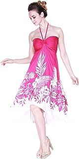 فستان هاواي باترفلاي لوا للنساء باللون الوردي