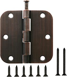 Hinge Outlet Oil Rubbed Bronze Interior Door Hinges 3.5 inch with 5//8 inch Radius 10 Pack