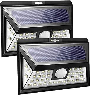 Solar Lights Outdoor, CREATESTAR 40 LED Security Light with Motion Sensor 270°Wide Angle, IP65 Waterproof, Super Bright Wa...