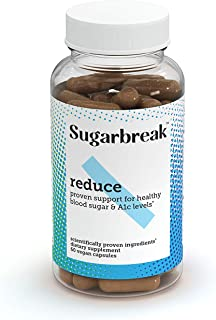 Sugarbreak Reduce Pills | Maintain Healthy A1c & Blood Sugar Levels Naturally with Gymnema Sylvestre | Daily Supplement (6...