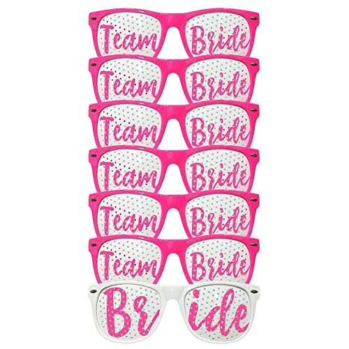 ADJOY Team Bride Wedding Party Sunglasses for Photo Props - Bachelorette Party favors for Birde and