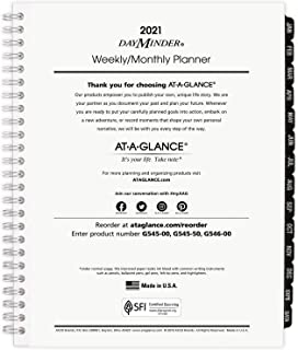 """2021 Weekly & Monthly Planner Refill for G545 Line Planners by AT-A-GLANCE, 7"""" x 8-3/4"""", Executive, DayMinder (G5455021) photo"""