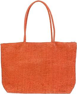 Baosity Straw Summer Beach Weave Woven Shoulder Tote Bag Purse Handbag