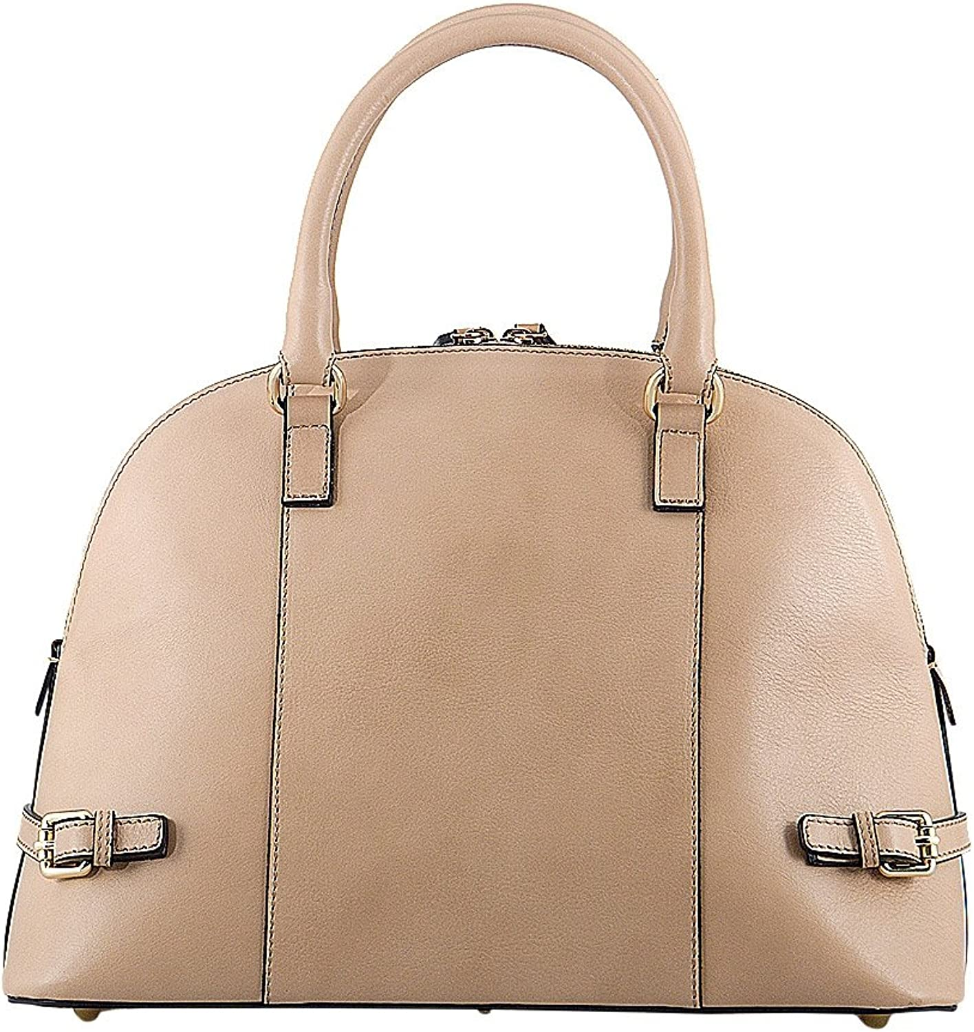 HONEY BAG Italian Leather Cowhide leather women's purse with removable strap ORIETTA  BEIGE