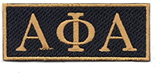 Alpha Phi Alpha Fraternity Logo Embroidered Iron On Patch