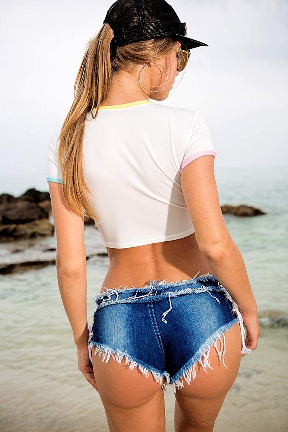 2021 New Summer Women's Jeans Denim Shorts hot Pants Low-Waisted Sexy Nightclub Clothing