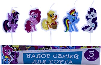 Bright Set Candles Figures on a Cake Topper My Little Pony Must Have Accessories for the Party Supplies and Birthday