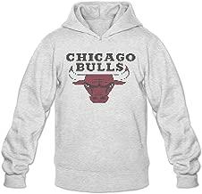 Original 2015 Chicago Bulls Logo Hoodie Men's Ash